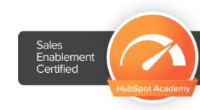 sales enablement certification badge